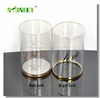 Clear High Transparent Colorful custom made PVC Plastic cylinder , plastic round box