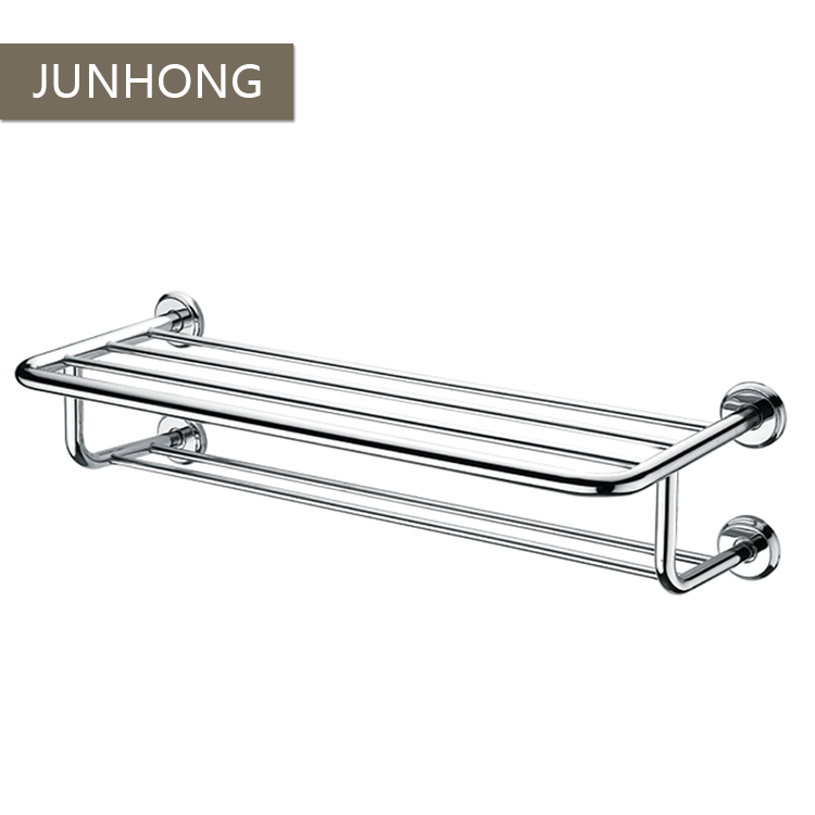 OEM SUS 304 bathroom towel racks with shelf for small bathroom