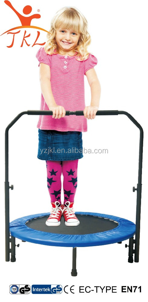 36in mini two way foldable trampoline with handrail for kids for fun