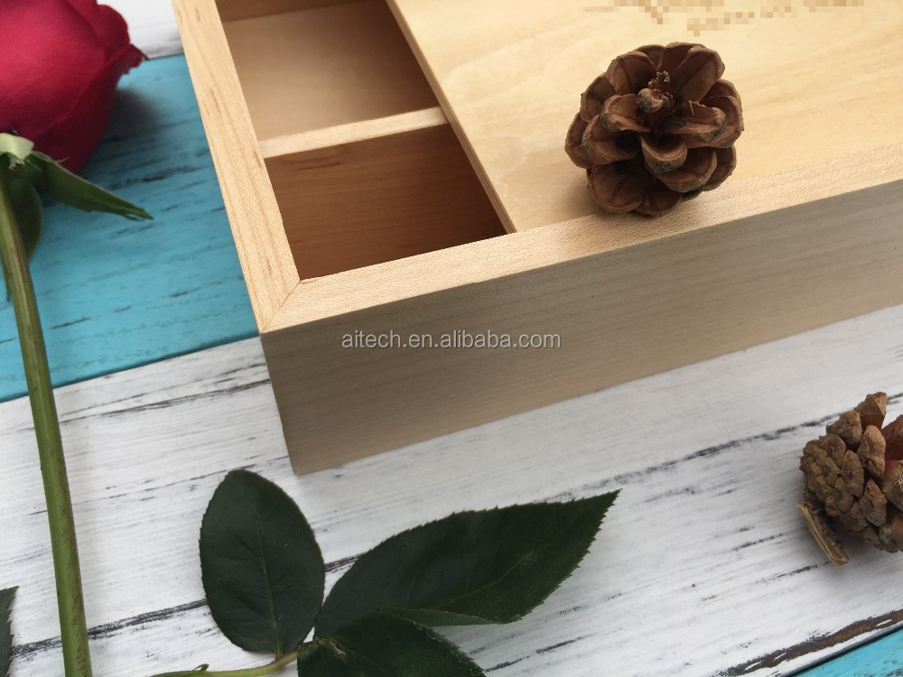 Pine/maple/walnut box for 4x6 photo packing,personalized wooden usb box for 4x6 photo packing