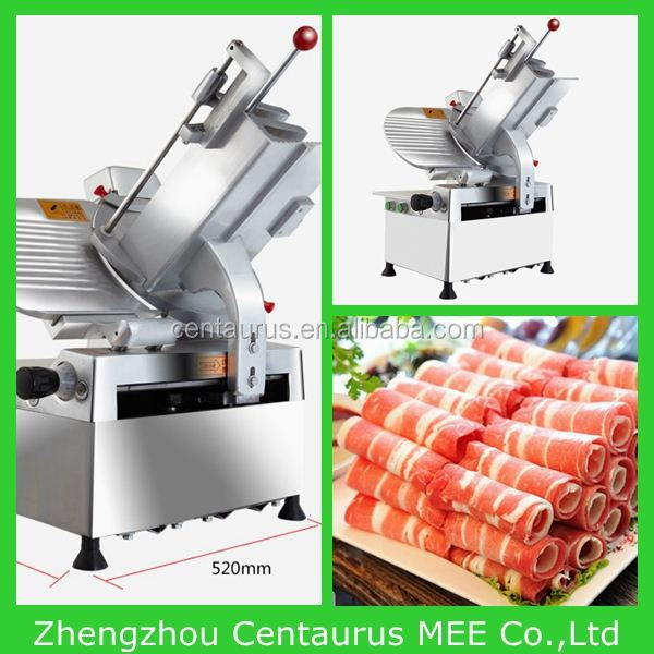 Lowest price mutton roll slicing machine/meat slicer with fast delivery
