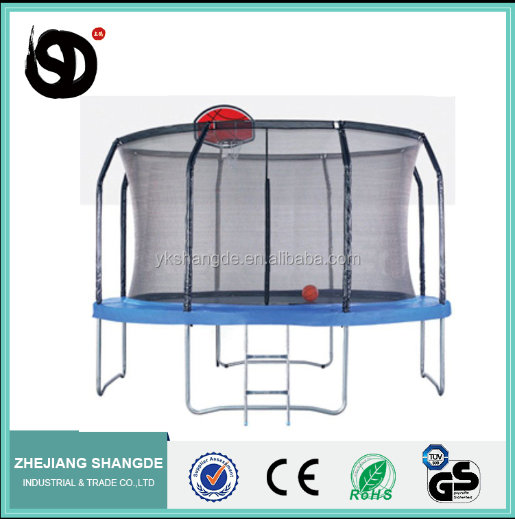 new style 10ft basketball trampoline bed with net and basketball frame creat fun