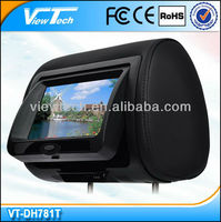 7 inch digital toyota headrest dvd player with touch screen