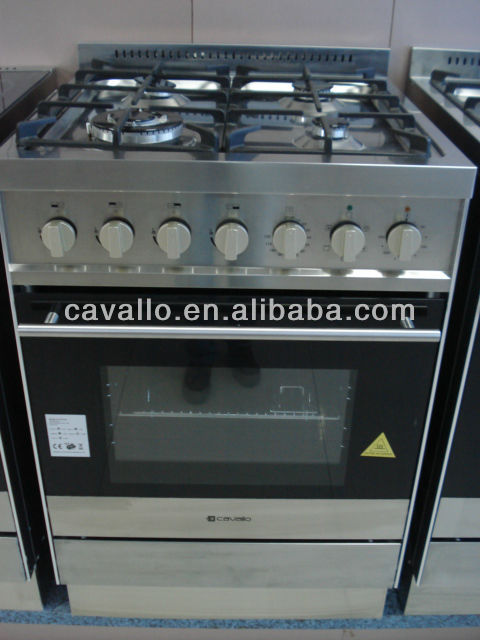 4 burners Free standing gas cooker with electric Oven