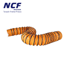 PVC Coated Polyester Fabric Flexible Tunnel Ventilation Duct