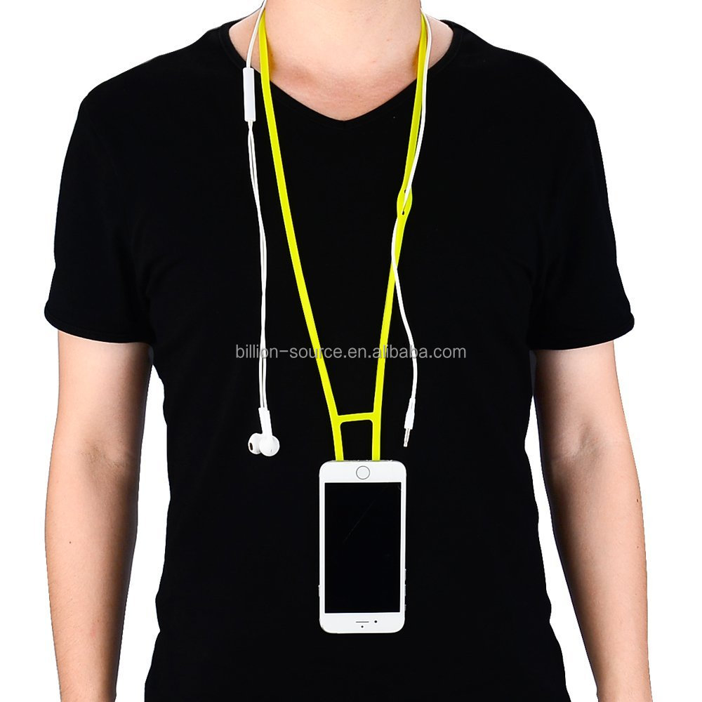 Neck strap silicone cell phone lanyard for iphone