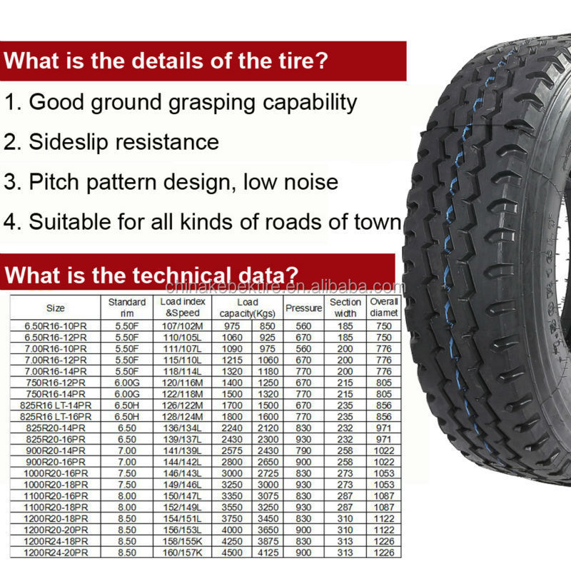 good quality light truck tyre 6.50x16 import from china