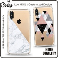 For iPhone 8 Marble Phone Case Customized Design Clear Bumper TPU Soft Rubber Silicone Cover Phone Case for Apple iPhone 7 6 6S