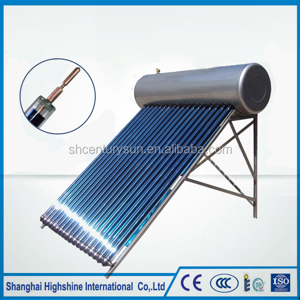 Stainless Steel Cmpact Heat Pipe Vacuum Tube Pressurized Solar Water Heater