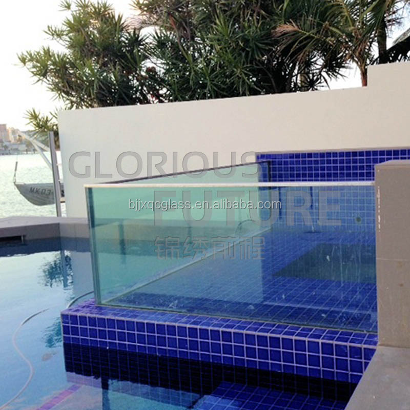 12+12mm safety tempered laminated glass swimming pool