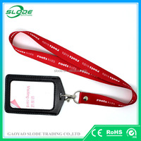 Custom logo id card holder lanyard and lanyard with id holder
