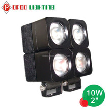 China Factory Price 4WD Tractor Truck Interconnectable Led Work Light 10W 4X4 offroad led work light
