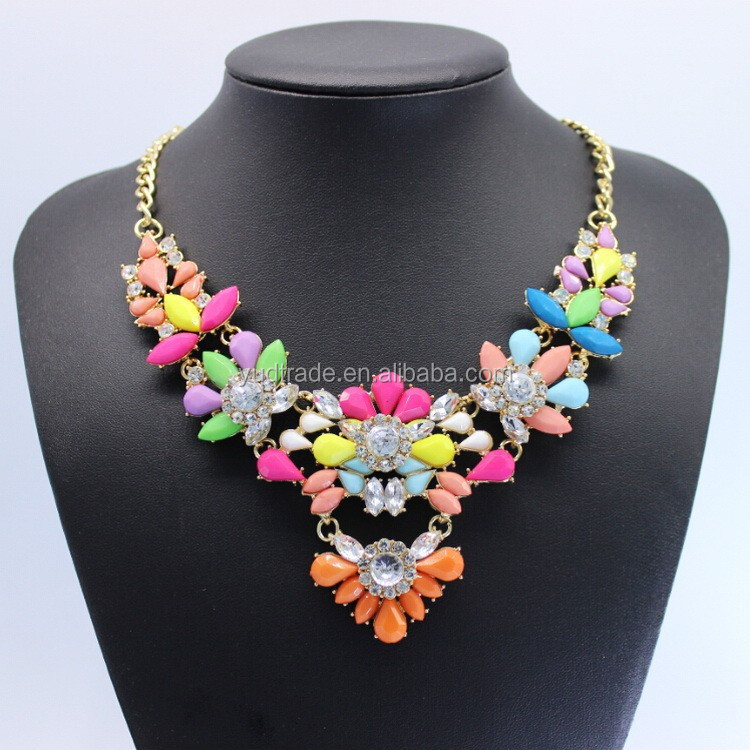 women fasion jewellery clothes Accessories colourful Mix Colour Resin necklace