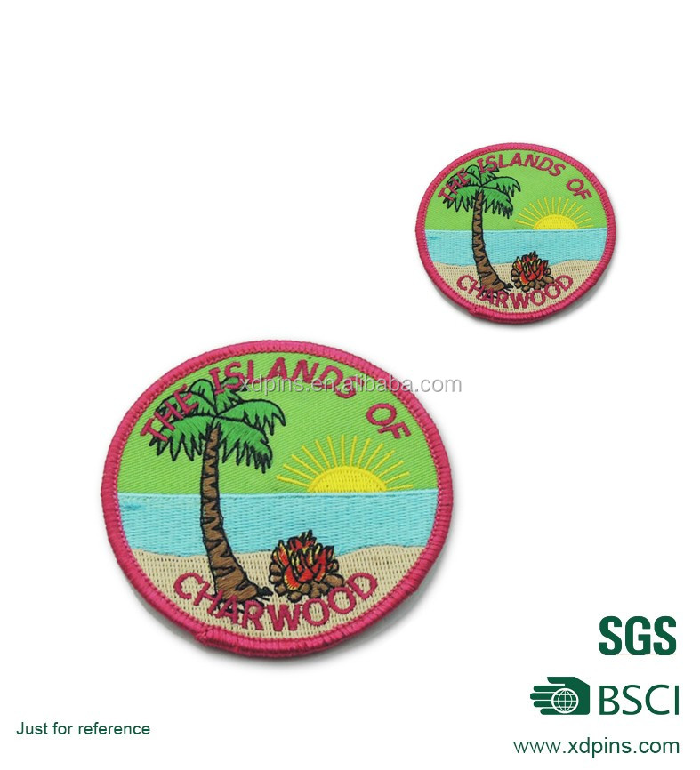 Customer fashionable island pattern embroidery badges