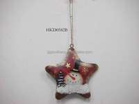 Vintage rustic metal stars star ornament holiday tree