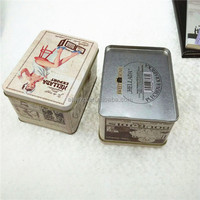 promotion metal storage box for perfume design