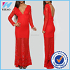 New item 2016 designer clothing women weeding dress in red