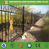 outdoor decoration Application forged iron fence design wrought iron fence gate
