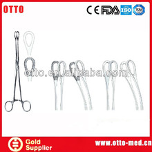 Stainless steel surgical sponge holder forceps