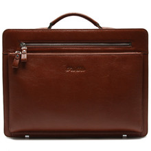 Classic leather large capacity laptop document lawyer bags