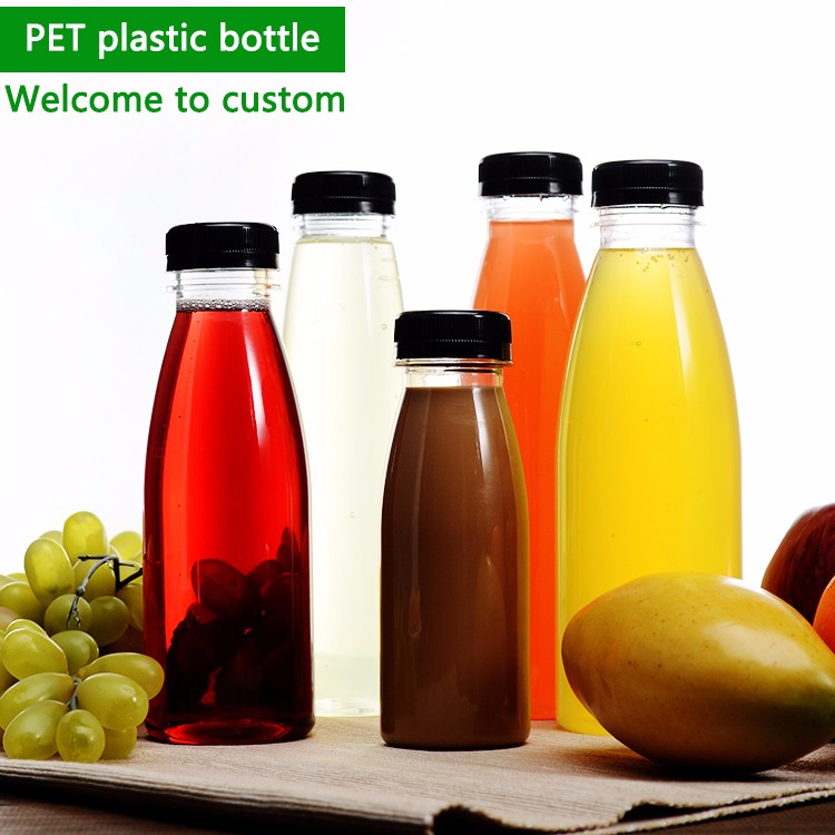 Disposable high quality drinking water plastic bottle PET beverage container plastic fruit juice bottle