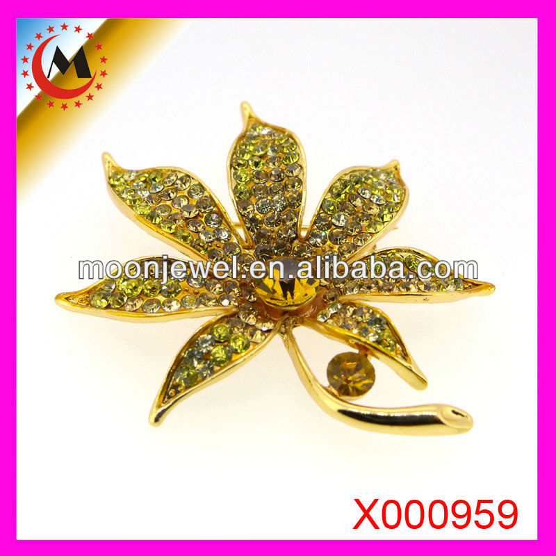 BIG ENAMEL FLOWER BROOCH WHOLESALE