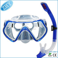 Diving Mask and Snorkel Set for Adults,Wide View Mask Dry Snorkel Set Anti-Fog Glass Purge Valve Scuba Diving Mask Snorkel