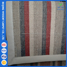 Cheap quality woven sisal floor rug colorful home fabric carpet