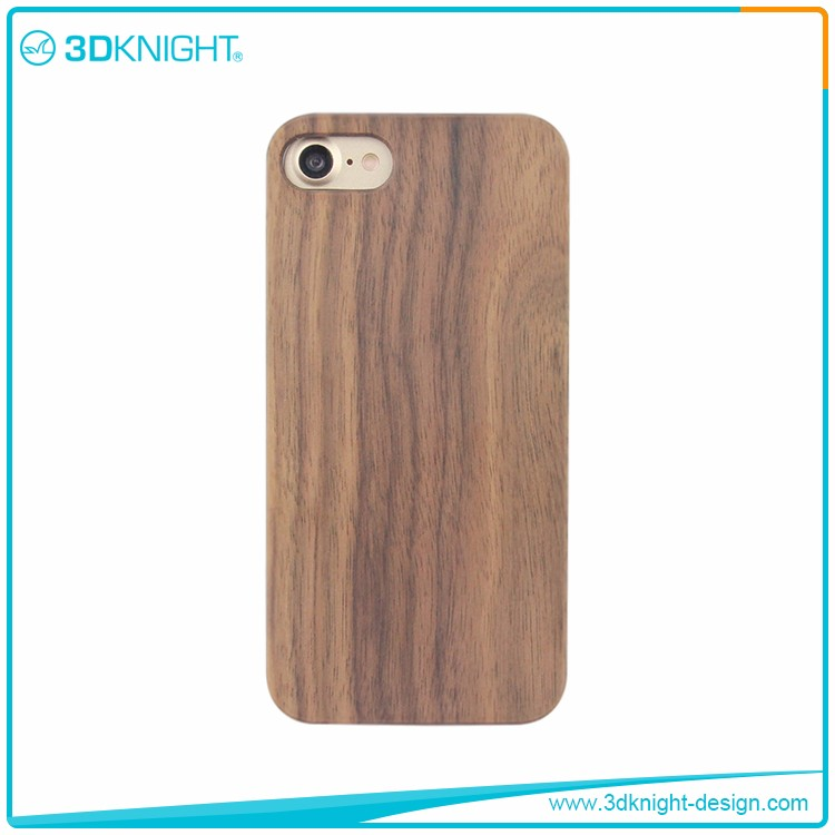 Latest High Quality Hand made Real Walnut Wood Cases for iPhone 7 case oem