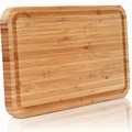Extra Thick Bamboo Cutting Board With Juice Groove