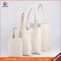 Pure cotton Canvas Shopping Tote Shoulder Bag Eco Reusable Bag