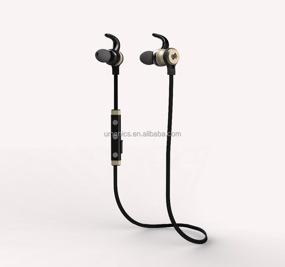 Deep bass original <strong>sports</strong> metallic bluetooth headset with magnetic, mic and remote volume control