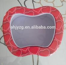 lovely apple shape gift tin box with PVC window