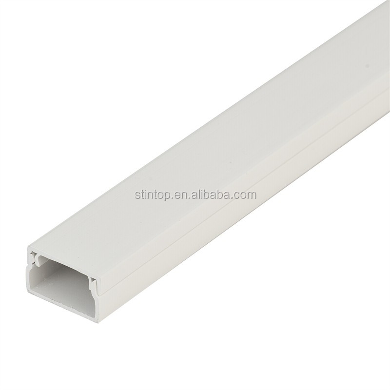 China factory White PVC Trunking Cable Electrical Wire Casing Size