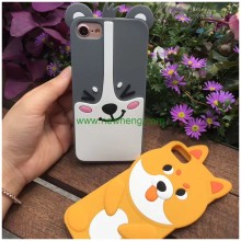 New Design 3D Cute Cartoon Animals dog Silicon Soft Phone Case For iPhone 7