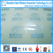 Popular and best seller transparent plastic round stickers printing factory