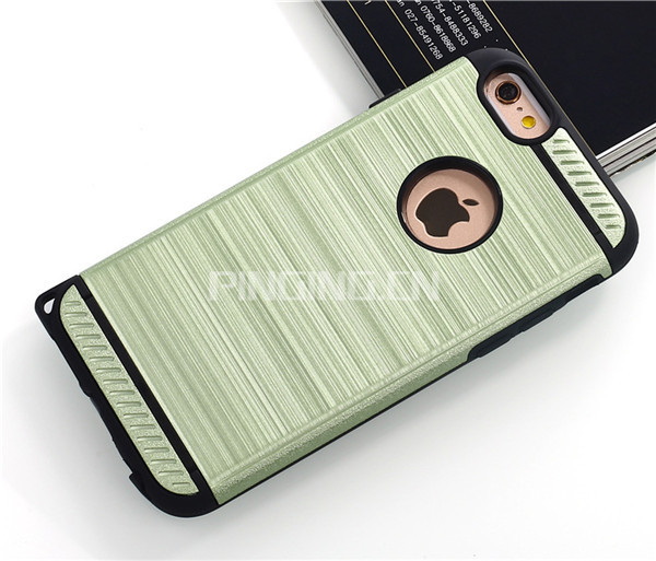 Fashion Hair Line Armor Case For iphone Se / 5S Case Brushed Metal