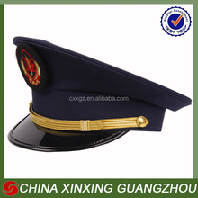 Polyester Military army office uniform captain visor cap hat