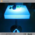 Stainless Steel Base Nightclub LED Plastic Tables Bar Square High Table with LED Light