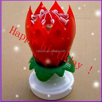 competitive price birthday candle in beautiful flaming flower