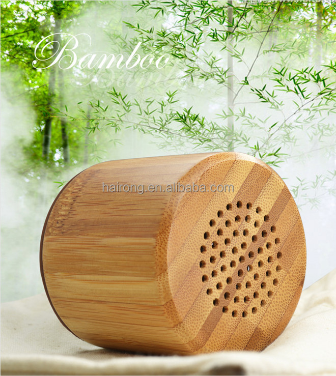 2017 trending product natural bamboo wireless mini wooden <strong>speaker</strong> portable mini wooden <strong>speaker</strong>