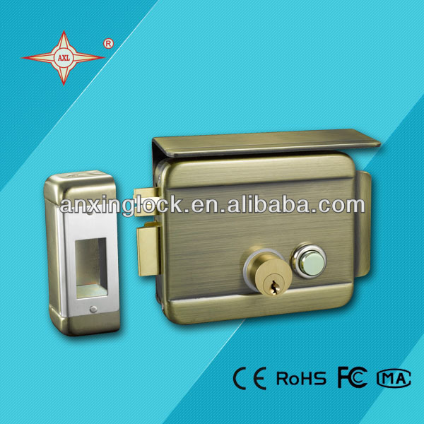 brass cylinder electric rim lock for door , mechanical lock