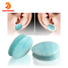 Set Mixed Stone Saddle Ear Plugs Stretcher Expander Ear Skin Flexible Flesh Tunnel Expander Stretching Gauge
