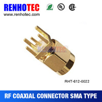 Factory price Straight PCB Type SMA Male Connector