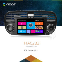 iokone touch screen car dvd radio player with gps navigation for Fiat 500
