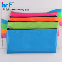 pvc leather mirror surface 4 color pencil case