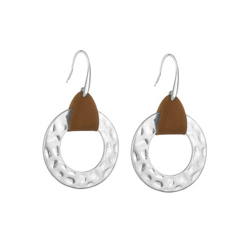 Trendy creative style leather earrings jewelry earrings for women dangle white round wholesale