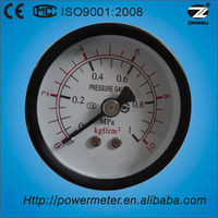2'' 50mm back type black steel case bourdon tube pressure gauge