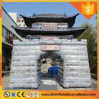 Customized giant inflatable Great Wall inflatable building C-324