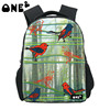ONE2 Design bamboo forest birds kids polyester school bag backpack